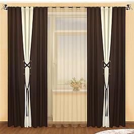 Шторы для комнаты РеалТекс Комплект штор №003 Венге-Шампань цена
