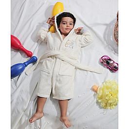 Халат махровый Karna Халат махровый детский с капюшоном KARNA TEENY на 2-3 года, экрю детский халат karna teeny 2 3 года голубой