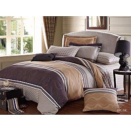 Постельное белье Cleo КПБ Сатин печатный 491 (2 спальный) постельное белье cleo satin lux 20 070 sl комплект 2 спальный сатин