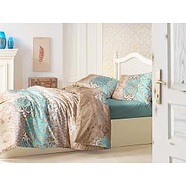"""Комплект постельного белья """"RANFORCE TUANA"""" 50х70*1 (1.5 спальный), коричневый"""