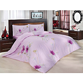 Постельное белье Altinbasak Комплект постельного белья RANFORCE NAZENIN (2 спальный), сиреневый двуспальный комплект постельно nazenin home