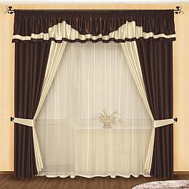 Шторы для комнаты РеалТекс Комплект штор №004 Венге цена