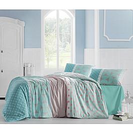 цена Постельное белье Altinbasak Комплект постельного белья CREAFORCE ALEDA 50х70*1 (1.5 спальный), бирюзовый онлайн в 2017 году