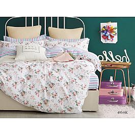 Постельное белье Cleo КПБ Сатин печатный 493 (2 спальный) постельное белье cleo satin lux 20 070 sl комплект 2 спальный сатин