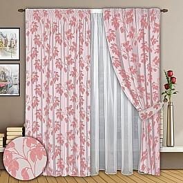 Шторы для комнаты РеалТекс Комплект штор №008 Розовый шторы реалтекс шторы с ламбрекеном радость цвет розовый