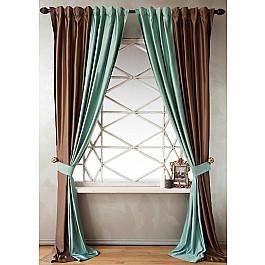 Шторы для комнаты Белошвейка Комплект штор КИДМАН, светло-бирюзовый, 140*270 см зимний конверт womar 48 exclusive темно бирюзовый светло бирюзовый
