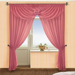 Шторы для комнаты РеалТекс Комплект штор №022 Брусника шторы реалтекс классические шторы neville цвет брусника