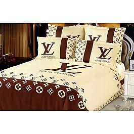 Постельное белье Louis Vuitton КПБ Сатин дизайн LV (1.5 спальный) недорго, оригинальная цена