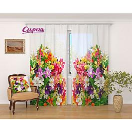 Тюль Сирень Фототюль Весенние полевые цветы фотоштора сирень фотошторы для кухни весенние полевые цветы