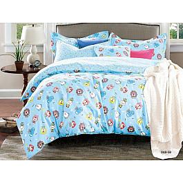 Постельное белье Cleo КПБ Сатин детский Zoo, голубой (Новорожденный) zoo tycoon