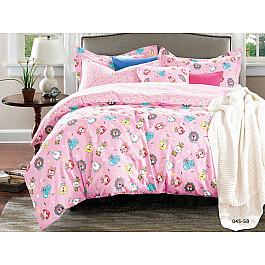 Постельное белье Cleo КПБ Сатин детский Zoo, розовый (Новорожденный) zoo tycoon