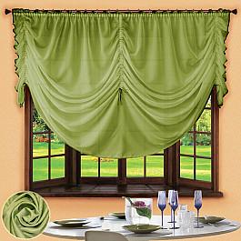 Шторы для кухни РеалТекс Шторы для кухни №049 Зеленый