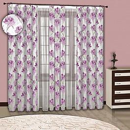Шторы для комнаты РеалТекс Комплект штор №059 Сирень 059