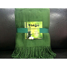 Плед Tango Плед Bamboo Throw №01, зеленый, 150*200 см striped chiffon round beach throw