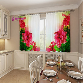 Фотоштора Сирень Фотошторы для кухни Цветы гибискуса фотоштора сирень фотошторы для кухни весенние полевые цветы