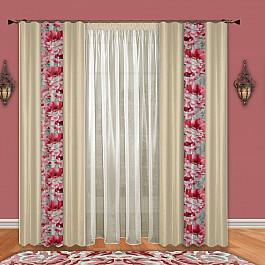 Шторы для комнаты РеалТекс Комплект штор №085 Молоко-Розовый paulmann 60085