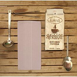 Наборы полотенец для кухни Karna Набор вафельных салфеток MEDLEY, сиреневый, 40*60 см - 2 шт набор салфеток karna affagato coffee 40 60 см 2 предмета