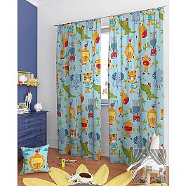 Шторы для детской TomDom Комплект штор Жера-К, голубой, 260 см комплект штор witerra тергалет 10709 голубой 140 260 см