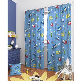 Шторы для детской TomDom Комплект штор Бриг-К, голубой, 260 см комплект штор witerra тергалет 10709 голубой 140 260 см