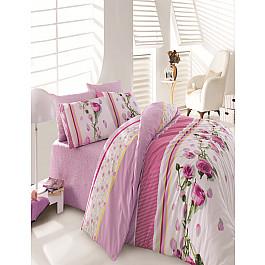 Постельное белье Cotton Life КПБ Cotton Life Creton Rosa, лиловый (Евро) цена