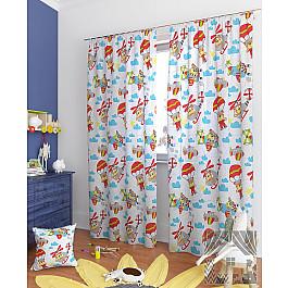 Шторы для детской TomDom Комплект штор Варуна-К, голубой, красный, 260 см комплект штор witerra тергалет 10709 голубой 140 260 см