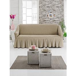 Чехлы для мебели DO&CO Чехол для дивана DO&CO трехместный, молочный чехол для трехместного дивана первый мебельный чехол для дивана милан трехместный