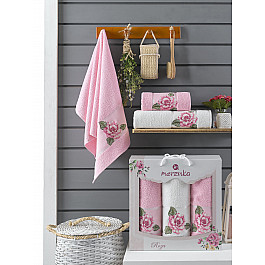Полотенца Merzuka Комплект махровых полотенец Merzuka Roza (50*90*2; 70*140), розовый полотенца merzuka комплект махровых полотенец merzuka roza 50 90 2 70 140 кремовый