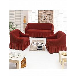 Чехлы для мебели Juanna Набор чехлов для дивана и кресел JUANNA 3+1+1, терракотовый чехол для диванов belmarti набор чехлов для дивана и кресел рустика