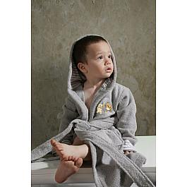 Халат махровый Karna Халат махровый детский с капюшоном KARNA TEENY на 2-3 года, серый детский халат karna teeny 2 3 года голубой
