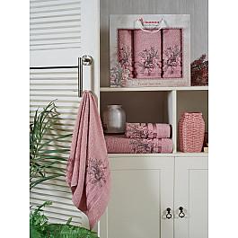 Полотенца Juanna Комплект махровых полотенец JUANNA BATIK (50*90*2; 70*140), пудра batik batik пальто стейси принт розовый