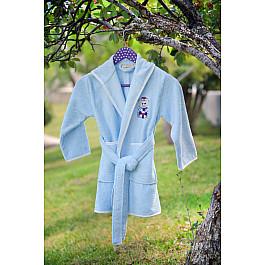 Халат махровый Pupilla Халат бамбук детский PUPILLA KIDS, на 3-5 лет, голубой детские халаты five wien детский халат малыш цвет голубой 6 8 лет