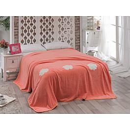Покрывало Karna Покрывало вельсофт с вышивкой KARNA ROSE, абрикосовый, 160*220 см покрывало karna покрывало moneta цвет абрикосовый 230х250 см