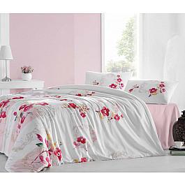 Комплект постельного белья CREAFORCE ESNA 50х70*1 (1.5 спальный), белый, розовый