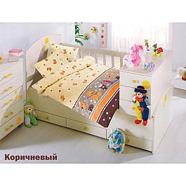 Комплект постельного белья Altinbasak VAK VAK (Новорожденный), коричневый