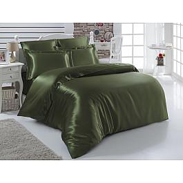 цена Постельное белье Karna Комплект постельного белья шелк KARNA ARIN 50x70*2 70x70*2 (2 спальный), зеленый онлайн в 2017 году