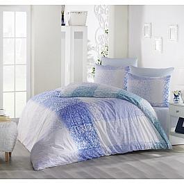 Постельное белье Altinbasak КПБ RANFORCE ELFIN (1.5 спальный), голубой