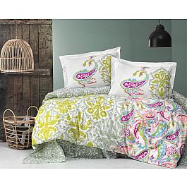 Постельное белье Altinbasak КПБ RANFORCE NEON LIDYA (Евро), зеленый постельное белье altinbasak кпб ranforce neon karel евро розовый