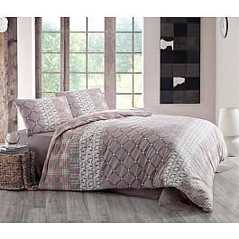 Комплект постельного белья CREAFORCE SANTANA 70x70*2 (1.5 спальный), коричневый