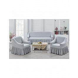 Чехлы для мебели Juanna Набор чехлов для дивана и кресел JUANNA KOZA 3+1+1, белый набор чехлов для дивана и кресел мартекс с карманами 3 предмета 05 0751 3