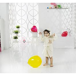 Халат махровый Karna Халат детский велюр KARNA SNOP, на 6-7 лет, кремовый детские халаты luxberry детский халат совята цвет жемчужный коричневый белый 7 8 лет