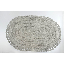 "Коврик для ванной кружевной ""MODALIN YANA"", стоне, 60x100 см"