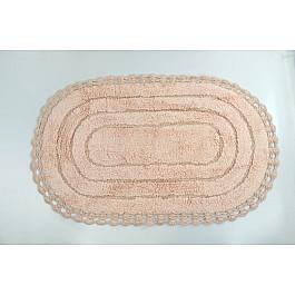"""Коврик для ванной кружевной """"MODALIN YANA"""", абрикосовый, 60x100 см"""