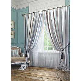 Шторы для комнаты TomDom Комплект штор Эзми, серо-голубой, 260 см комплект штор witerra тергалет 10709 голубой 140 260 см
