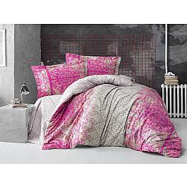 Постельное белье Altinbasak КПБ RANFORCE NEON CADRADO (Евро), фуксия постельное белье altinbasak кпб ranforce neon karel евро розовый