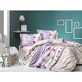 Постельное белье Altinbasak КПБ RANFORCE NEON LORANCE (Евро), сиреневый постельное белье altinbasak кпб ranforce neon karel евро розовый