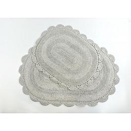 """Набор ковриков для ванной кружевной """"MODALIN DIANA"""" (50x80; 45x60), стоне"""