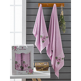 Полотенца Merzuka Комплект махровых полотенец Merzuka Roza (50*90; 70*140), сиреневый полотенца merzuka комплект махровых полотенец merzuka roza 50 90 2 70 140 кремовый