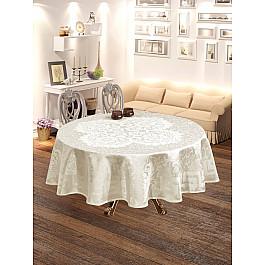Скатерти DO&CO Скатерть броде жаккард DO&CO LALEZAR, круглая, белый, 160 см