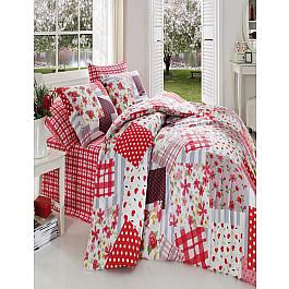 Постельное белье Cotton Life КПБ COTTON LIFE PATCHWORK, красный (1.5 спальный) цена