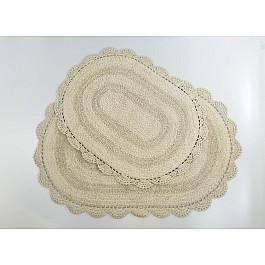 """Набор ковриков для ванной кружевной """"MODALIN DIANA"""" (50x80; 45x60), бежевый"""